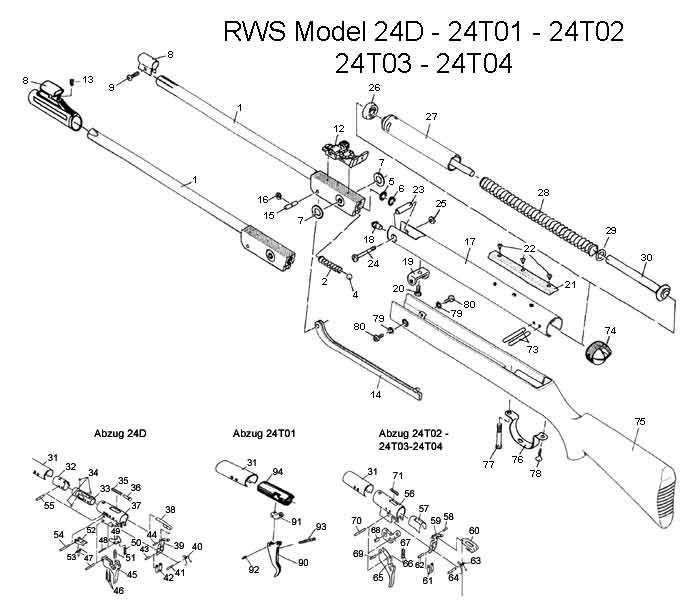 rws compression tube complete for model 24  t02  rws  u0026 umarex