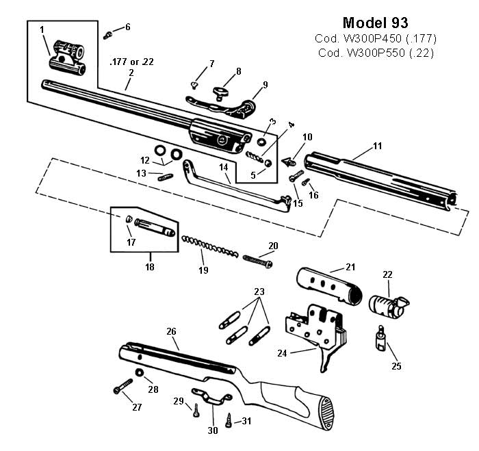 rws barrel  177  model 93   rws  u0026 umarex