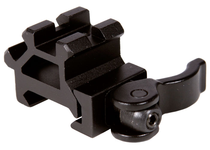 Lever Locking System : Utg law enforcement rated double rail single slot weaver