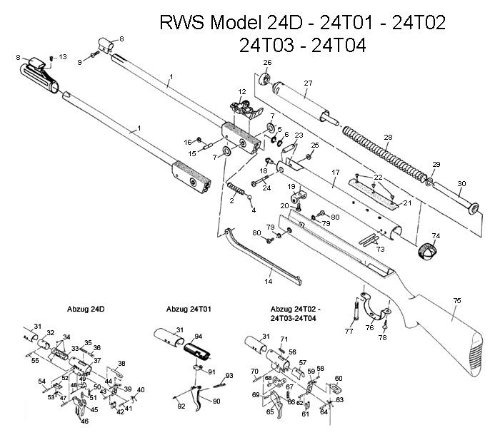 rws  diana model 24d air rifle schematic