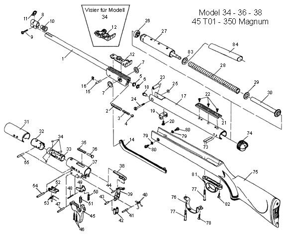 rws  diana model 36 air rifle schematic