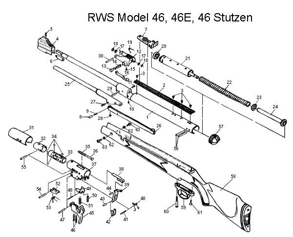 rws  diana model 46e air rifle schematic